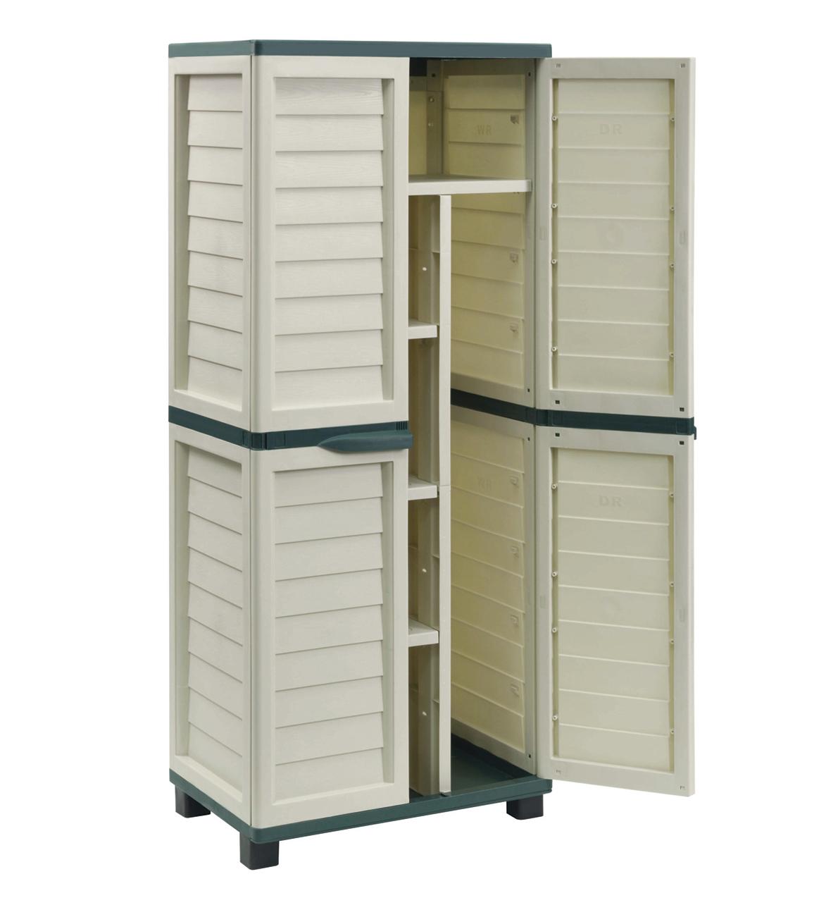 armoire de jardin en r sine gardiun clothes hanging storage gardiun. Black Bedroom Furniture Sets. Home Design Ideas